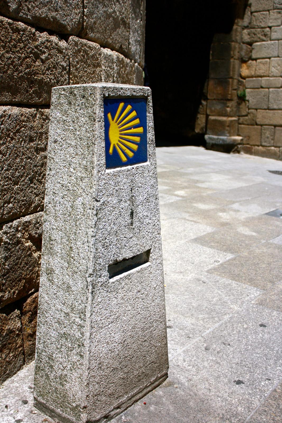 Camino de Santiago in Lugo, Spain