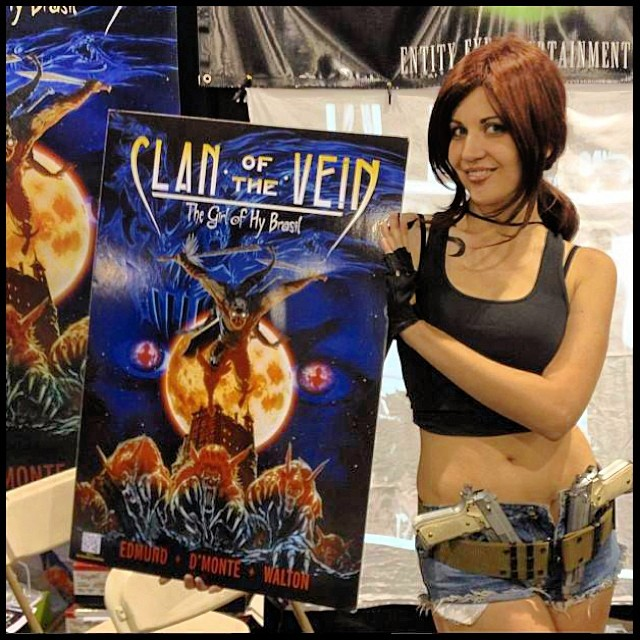Aurora Showing Off The Poster For Clan Of The Vein! #clano
