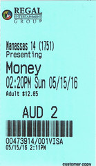 Money Monster ticketstub
