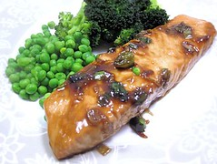 Salmon in oyster sauce
