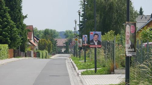 Wahlkampfplakate in der Köpenicker Straße