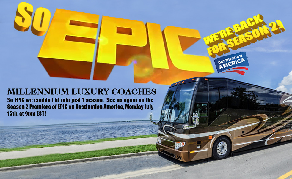 Millennium luxury coaches epic season 2 million dollar for Million dollar motor homes