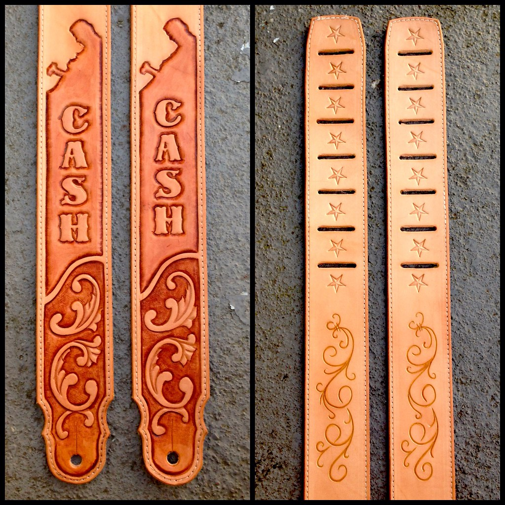 Leather Craft - Guitar Straps | Made a couple of Johnny