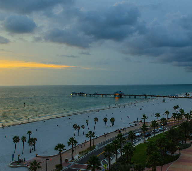 Sunset set and storm over clearwater 39 s pier 60 flickr for Craft fairs in clearwater fl