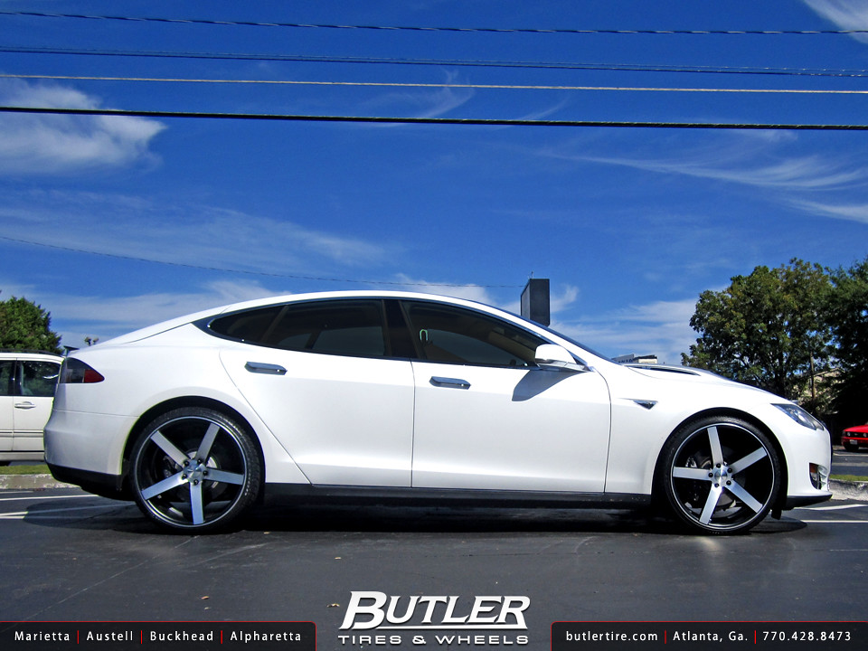 Tesla Model S With 22in Vossen Cv3 Wheels Additional