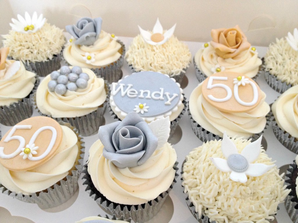 50th Birthday Cupcake Decorating Ideas