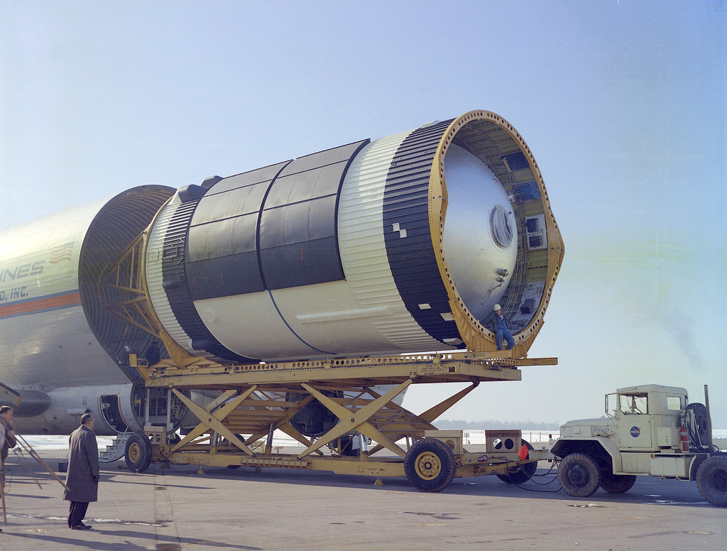 First Stages of the Saturn IB Rockets at Michoud Assembly ...