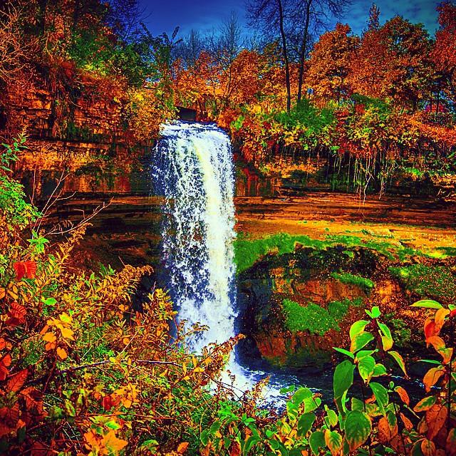 Minnehaha Falls, autumn. #ondragontime #fall #leaves #fall… | Flickr