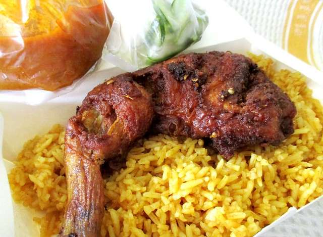 Ayam berempah nasi bryani