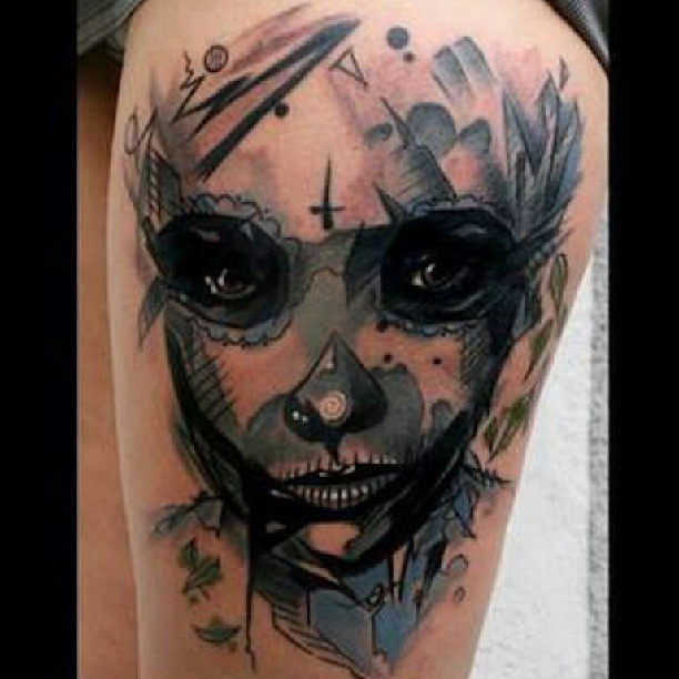 Upside down cross meaning tattoo pictures to pin on for Cross tattoo on forehead meaning