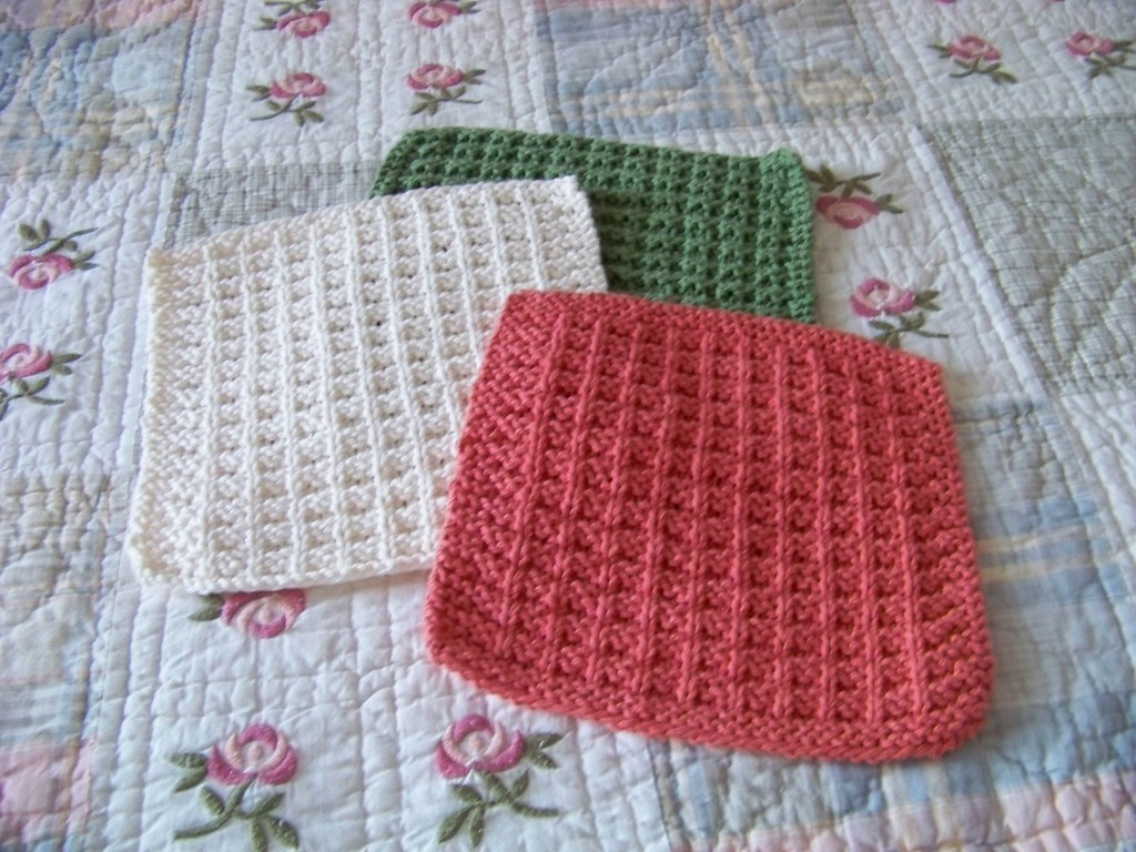 Noni Knitting Patterns : laws_of_knitting_dishcloth_green_cream_tangerine Kitchen D? Flickr