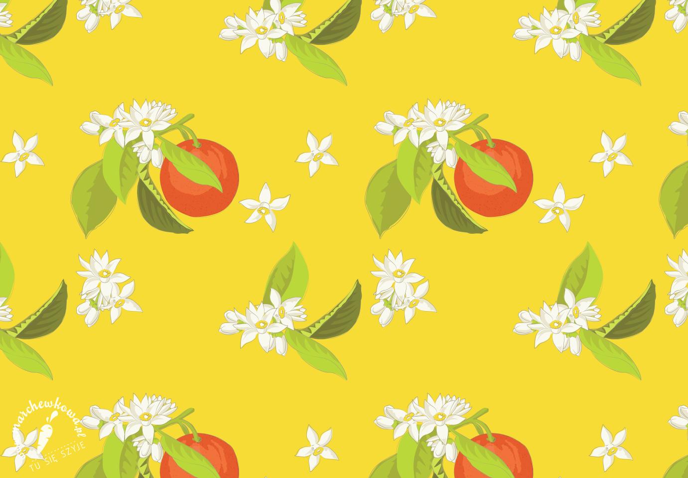 marchewkowa, grafika, nadruk, projekt tkaniny, wzór, print, pomarańcze, Orange