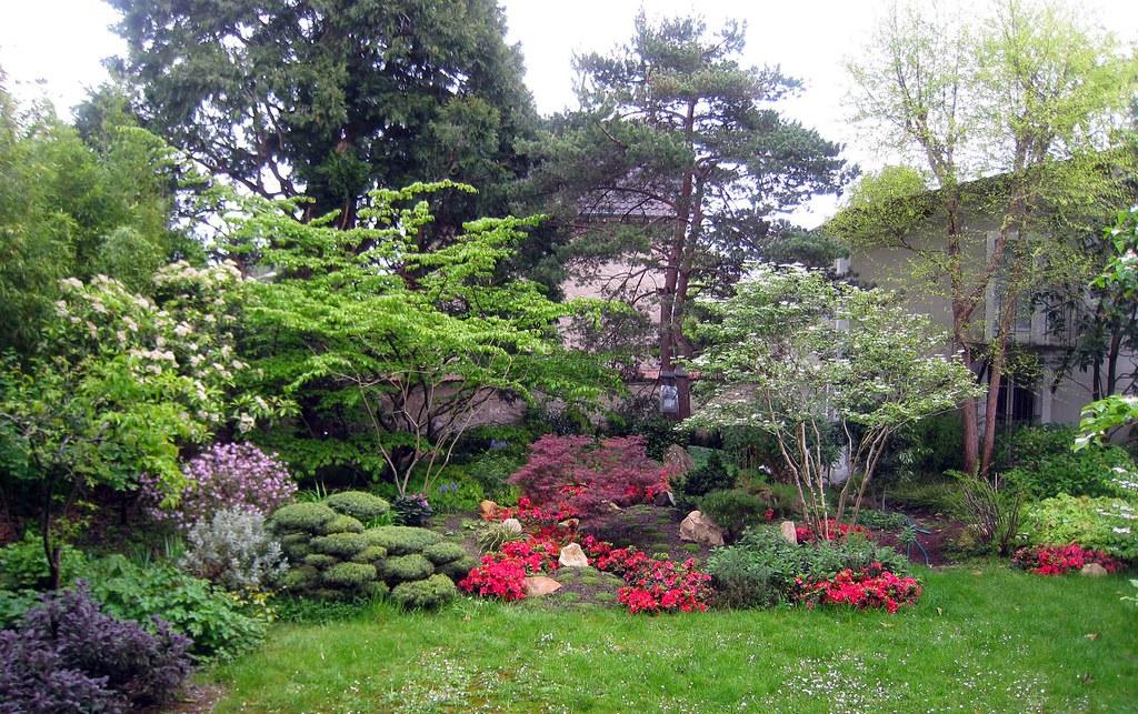 Vue g n rale jardin japonais fontainebleau jardins for Jardin japonais 78