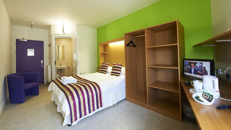 A bedroom in Woodland Court