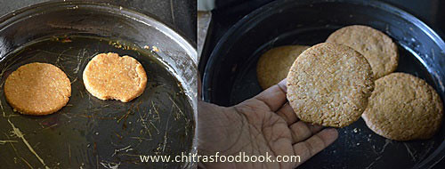Eggless oats cookies