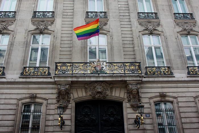New Trans Am >> British Embassy Paris flies the Rainbow flag | As an ...