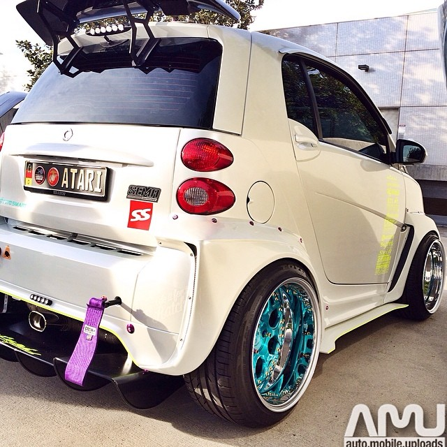 @mascunanabear Wide Body Smart Car At #CarsAndCoffeeIrvine