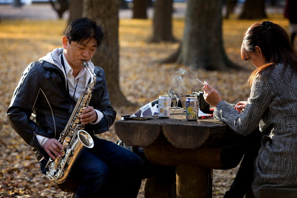 Smoking Cigarettes & Practicing The Sax