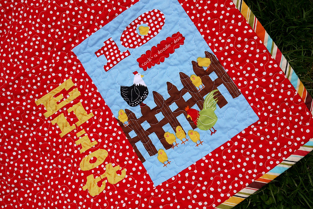 Laurie Wisbrun Counting Animals Baby Quilt