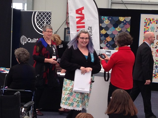 Jennifer Davis wins second in Commercially Quilted category