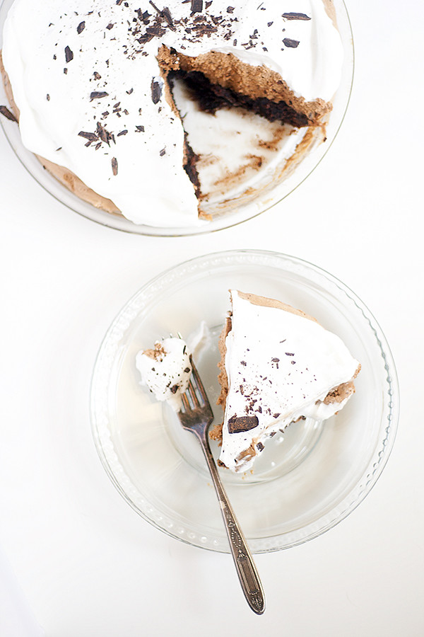 brownie bottom french silk pie