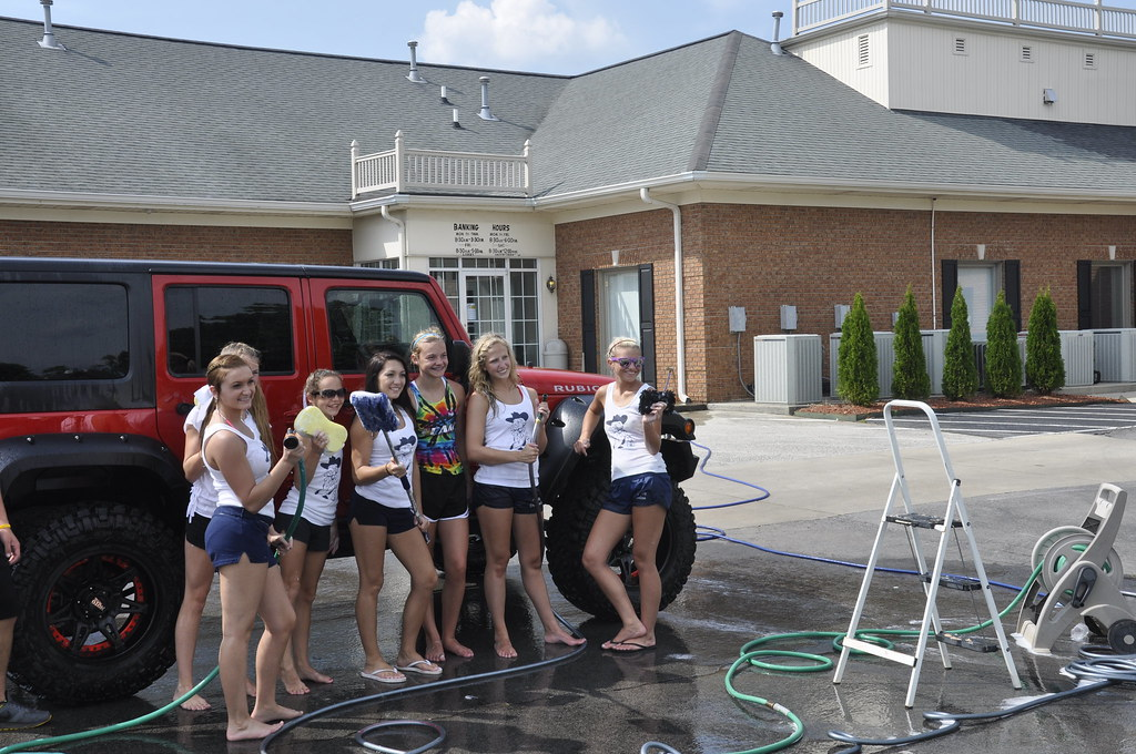Cheerleader Car Wash Pictures