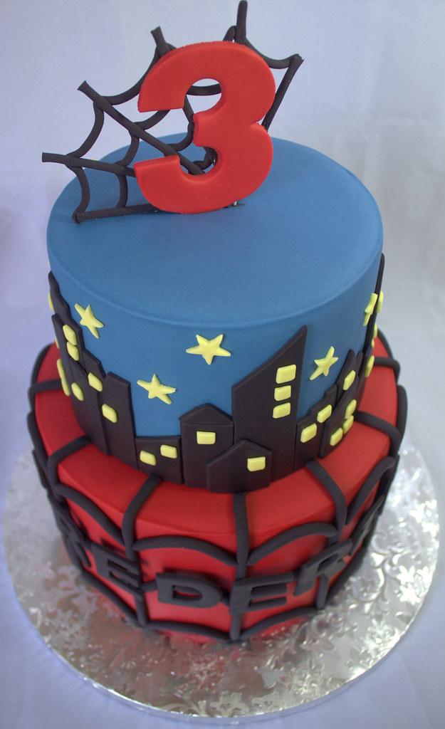 spiderman birthday cake sara mayes flickr. Black Bedroom Furniture Sets. Home Design Ideas