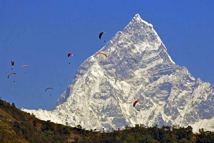 Fishtail Mountain Amp Paragliding Pokhara Nepal Aryal