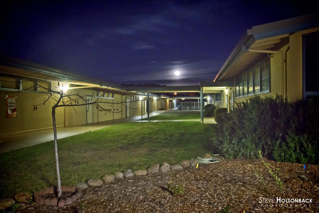Full moon over ord terrace elementary school seaside ca for Terrace school