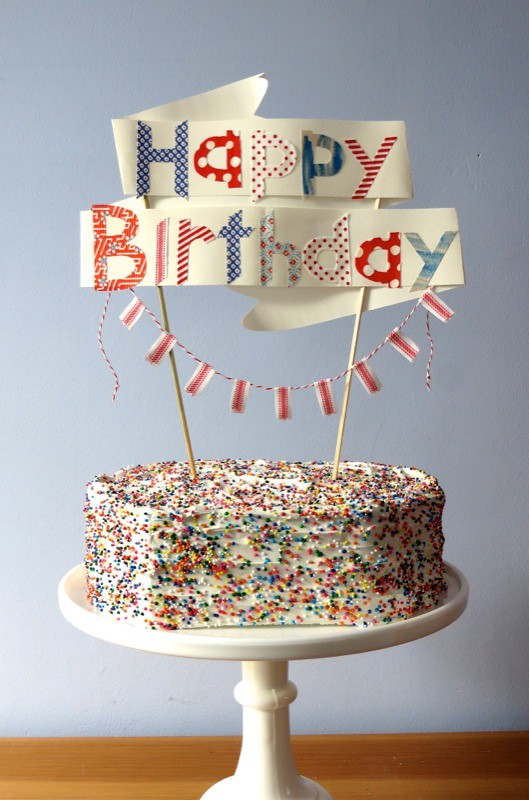 Happy Birthday Cake Topper Heather Donohue Flickr