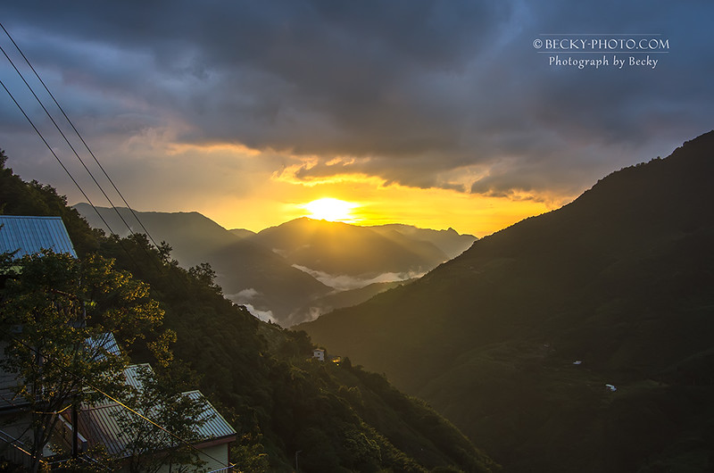 2016.Jul sunset @Lala Mountain Taoyuan, Taiwan 拉拉山