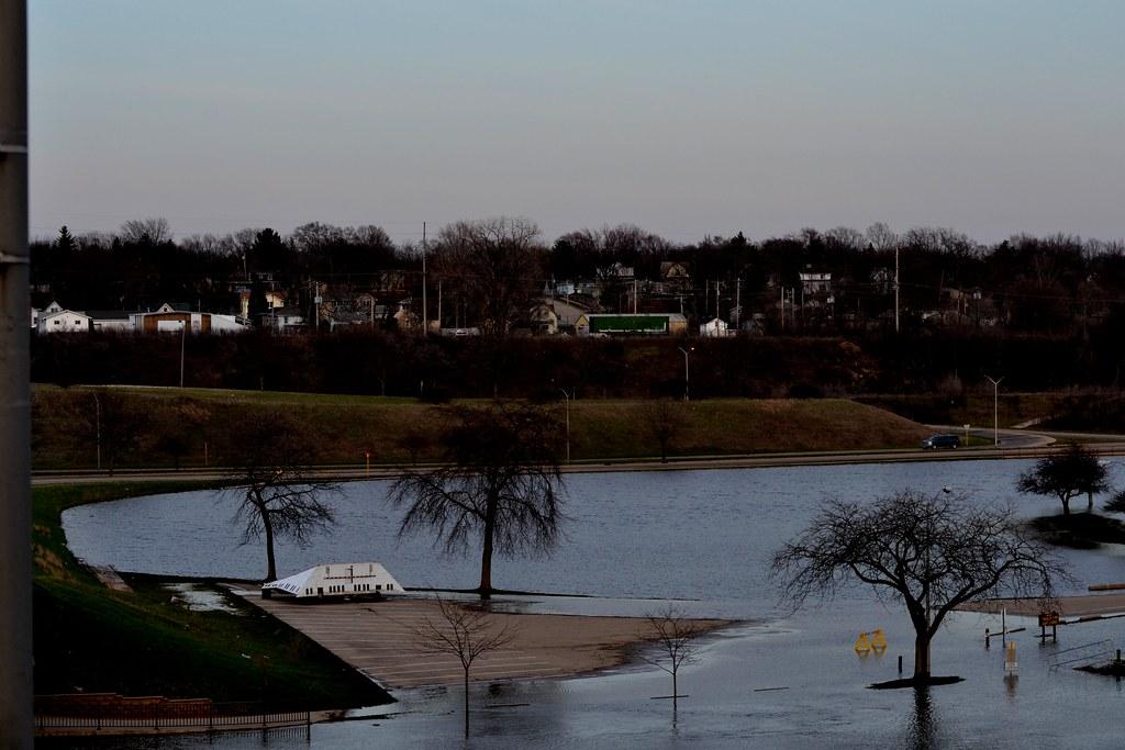 Traxler Park Under Water Rock River Flooding Traxler