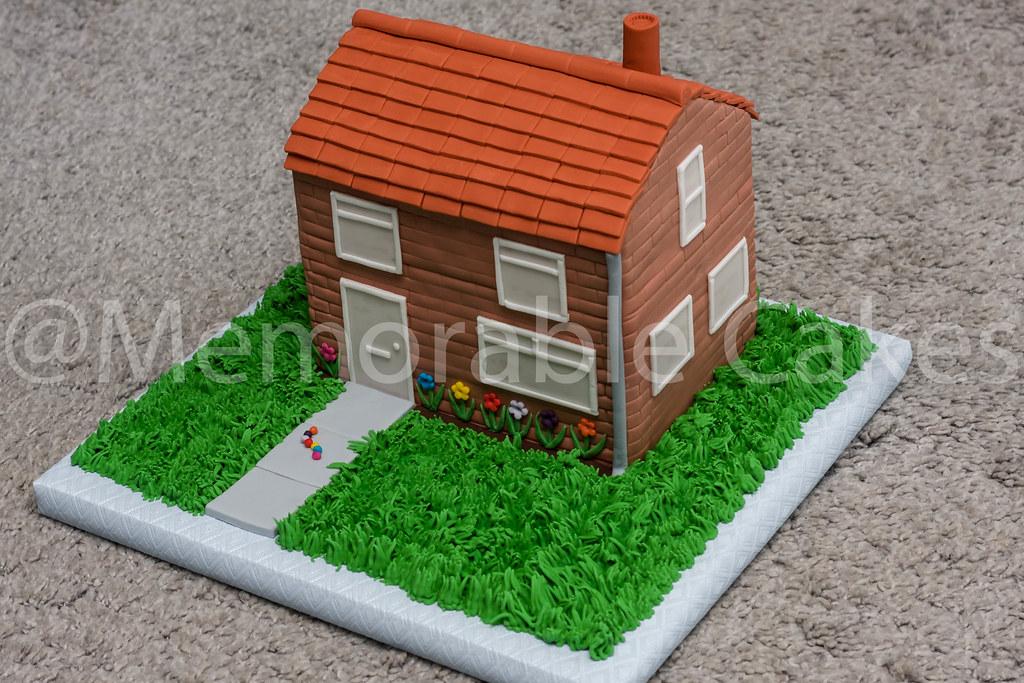 House Fondant Cake