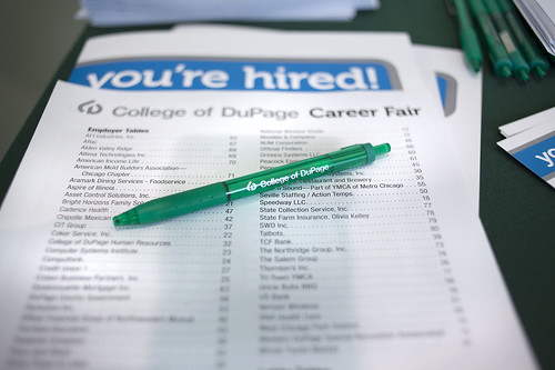 Career Fair at College of DuPage 2014 14