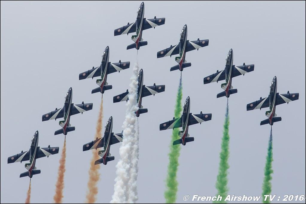 Frecce Tricolori , patrouille acrobatique officielle de l'armée de l'air italienne , Aermacchi MB-339PAN ,Meeting de l'air BA-702 Avord , Meeting Aerien Avord 2016 , FOSA , Armée de l'air , Canon Reflex , EOS System
