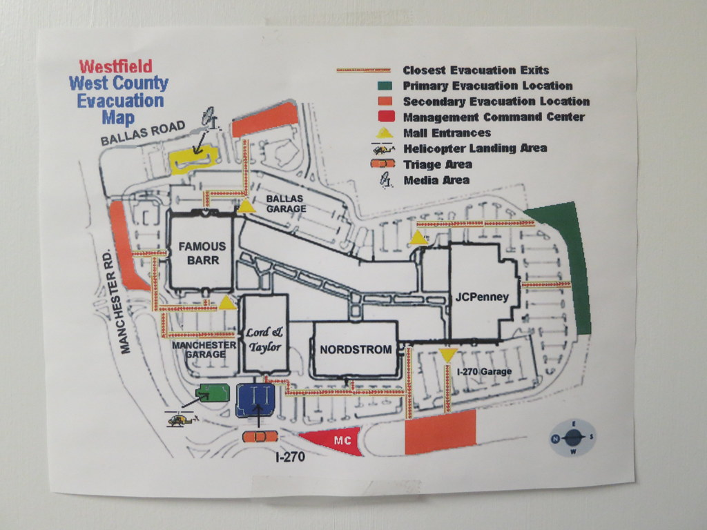 west county mall evacuation map paul sableman flickr