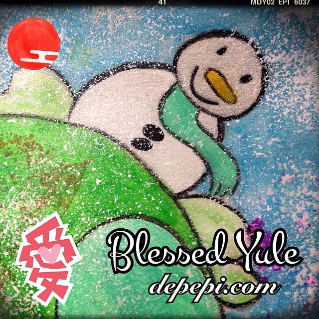 blessed yule yule wintersolstice kawaii cute love