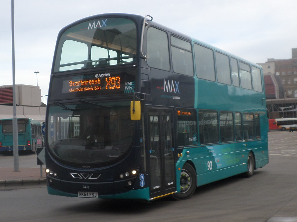7403 Nk64 Fsj Arriva North East Max Volvo B9tl Wright Gemi