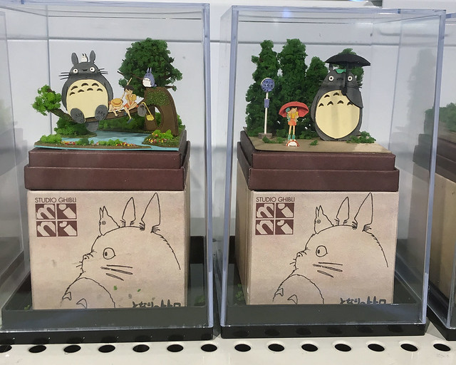 Tiny Totoro papercraft kits at Loft
