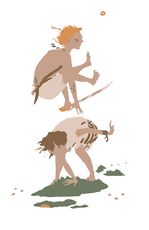 Illustration Friday: Tribal - silhouette