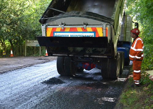 One of Surrey's road's being resurfaced as part of Project Horizon