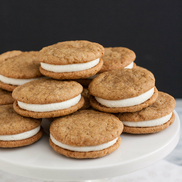 Ginger-Spice Sandwich Cookies with Lemon Cream Cheese Filling | Flickr ...