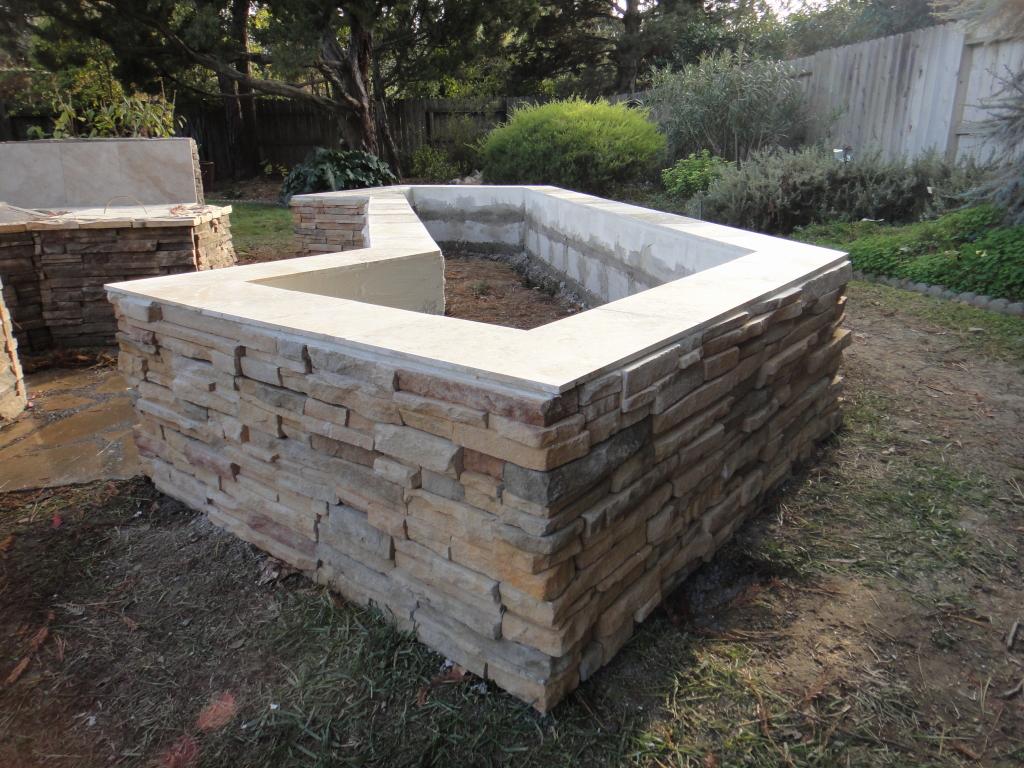 Cultured Stone Planter Box In Davis Custom Cultured