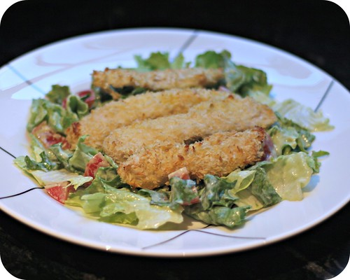 Crispy Chicken Salad with Avocado Ranch