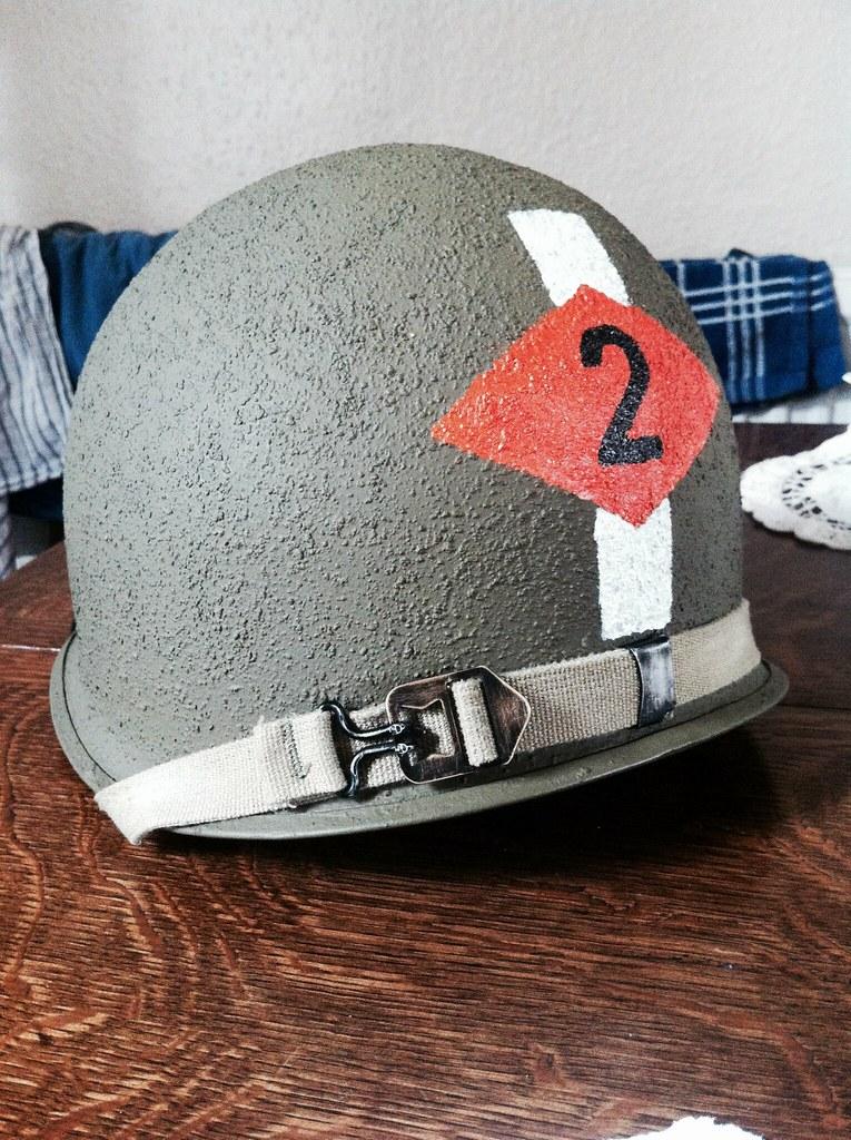 WW2 US 2nd Rangers M1 Helmet (restored) #us #ww2 #2nd #ran ...