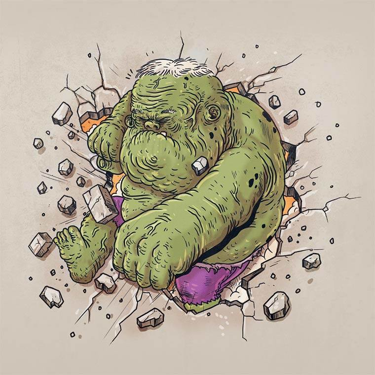 Famous Oldies by Alex Solis - The Incredible Hulk