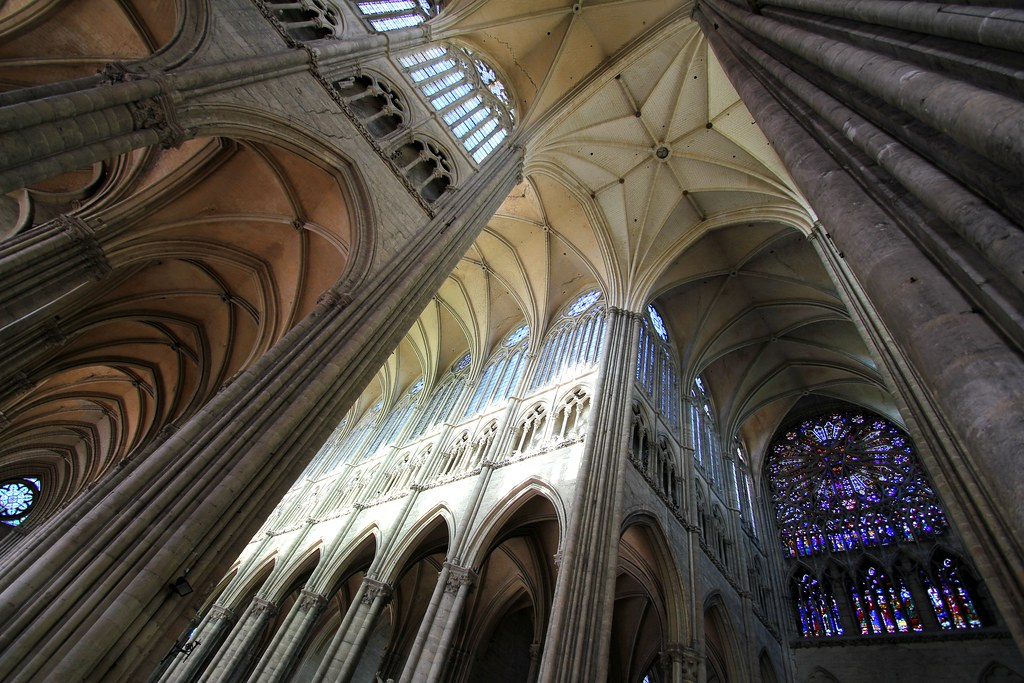 interior of the cathedral of amiens france unesco world. Black Bedroom Furniture Sets. Home Design Ideas