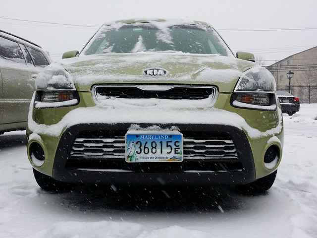 Kia Soul After Snow Cleared A 2012 Kia Soul After A