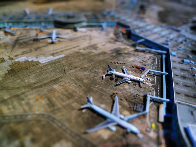 vancouver, airport, tilt, shift, plane