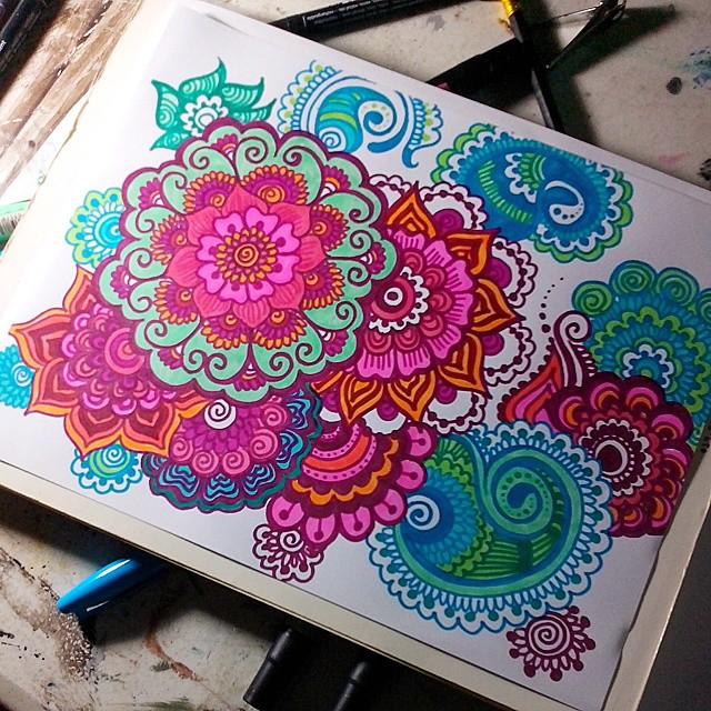 Done Creative Mandala Mandalaart Drawing Draw Arte